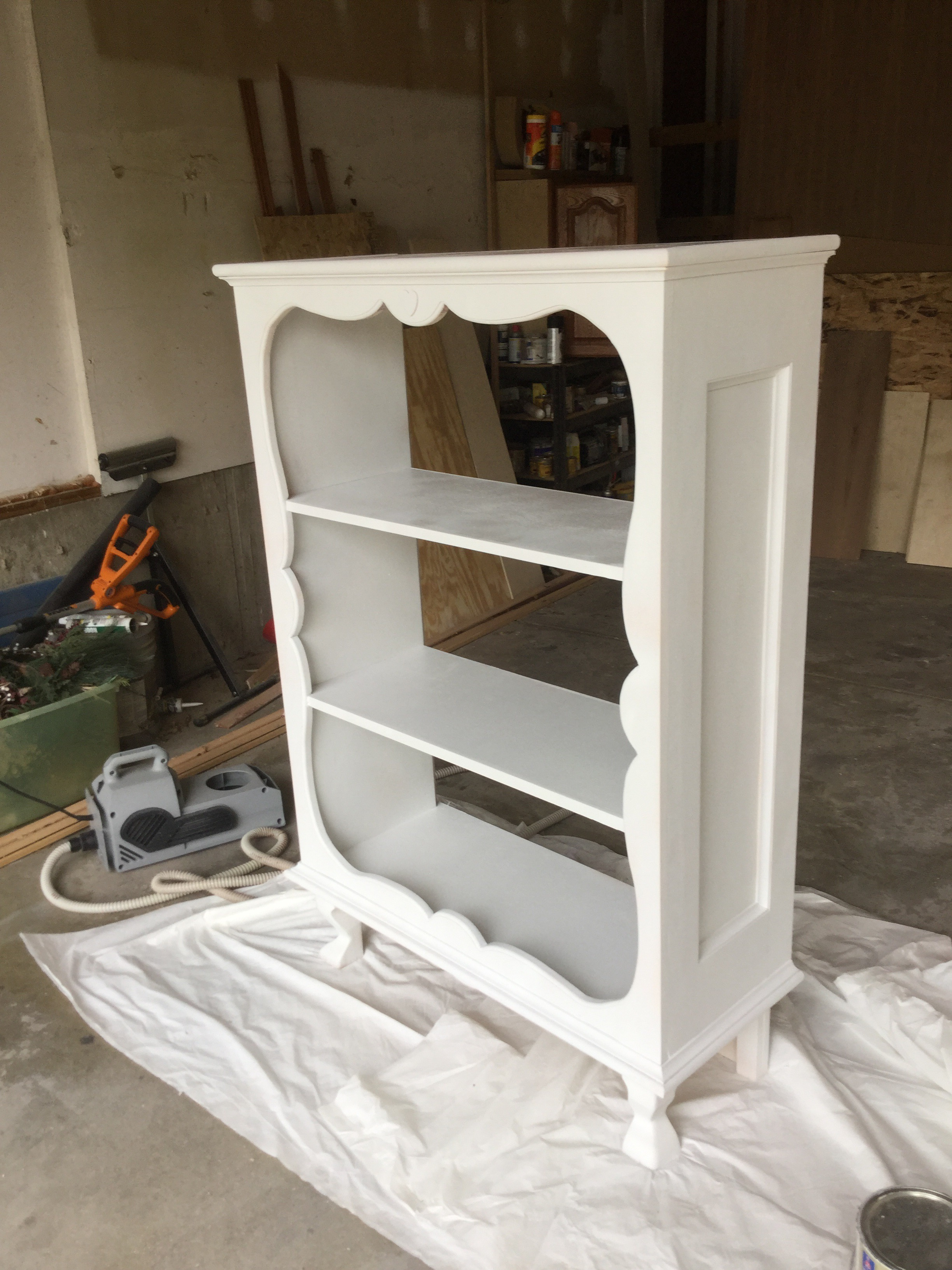 ... That Matches My Granddaughters Furniture White Color. Then A Coat Of  Satin Clear. The Back Will Have A Piece Of Material Put On It With Spray  Adhesive.